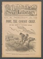 Pony, the cowboy chief, or, The young marshal's raid