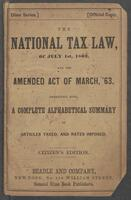 national tax law of July 1st, 1862, and the amendatory act of March 3, 1863