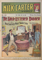 The gold-lettered dagger, or, Nick Carter's most tragic case