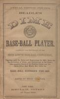Beadle's dime base-ball player (1862)