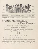 Frank Merriwell vs. Fred Fearnot: Part 1
