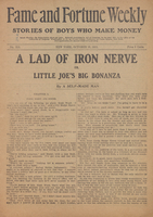 A lad of iron nerve, or, Little Joe's big bonanza