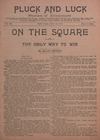 On the square, or, The only way to win